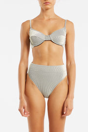 Signature High Waisted Brief - Stripe