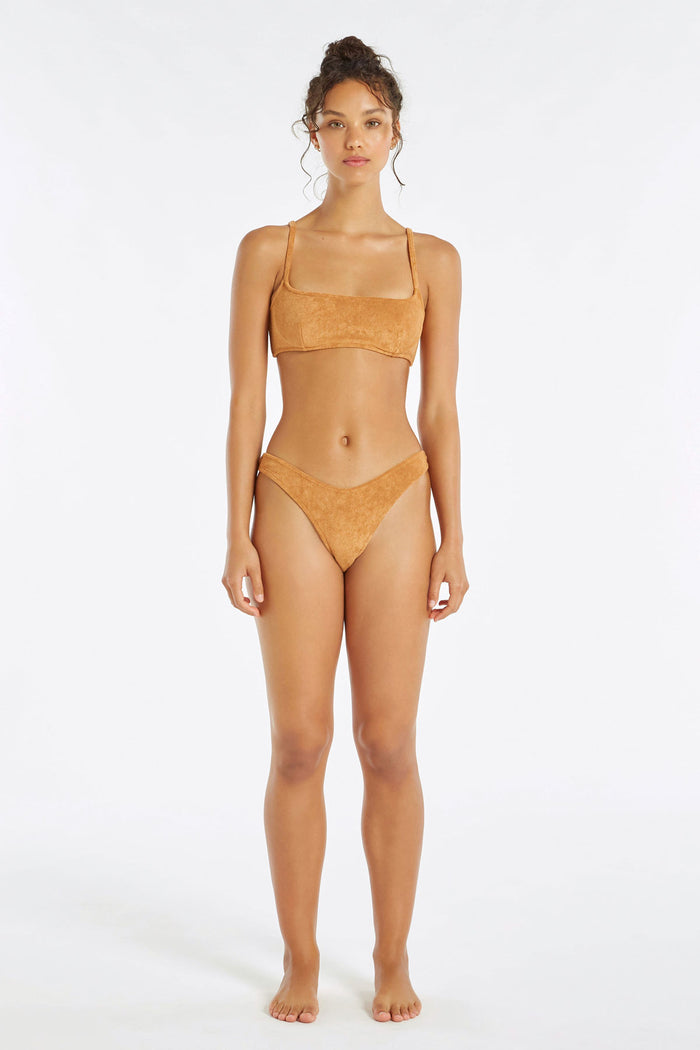 Towelling Curve Brief - Terracotta