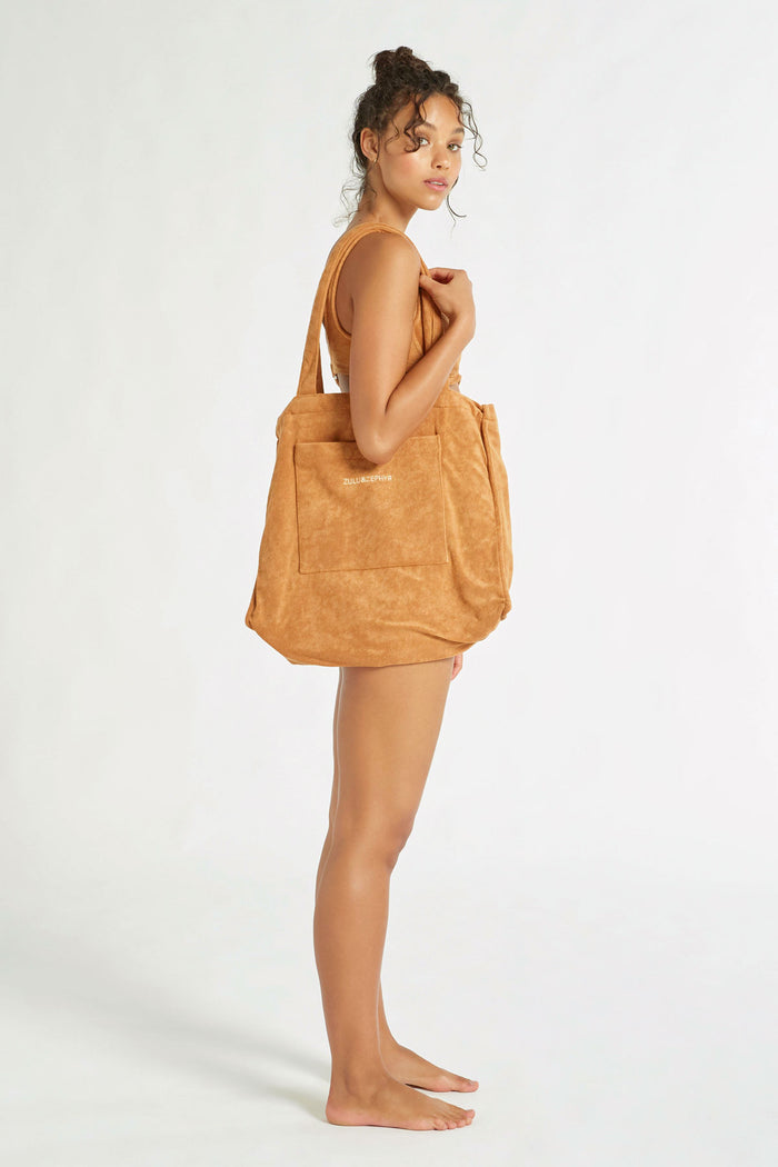 Towelling Bag - Terracotta