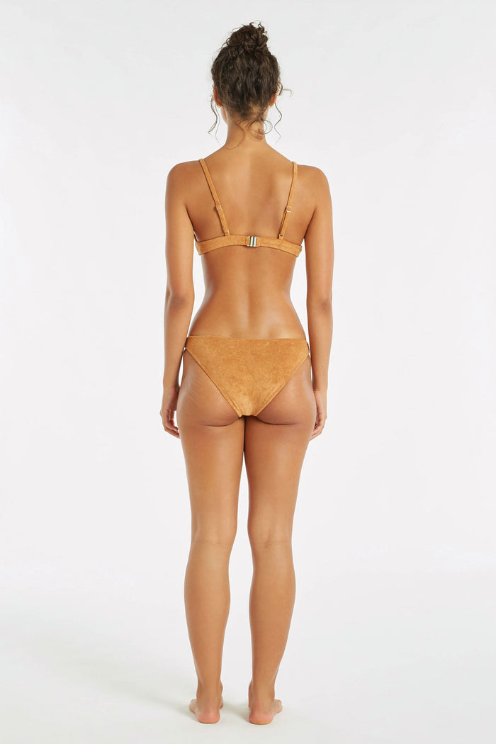 Towelling Tri Cup Top - Terracotta