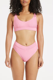 Signature Waistband Bralette Top - Hot Pink