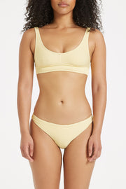 Signature Waistband Bralette Top - Lemon