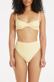 Signature High Waisted Brief - Lemon