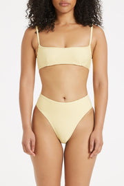 Signature Skimpy High Waisted Brief - Lemon