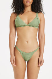 Signature Harness Top - Tallow Green