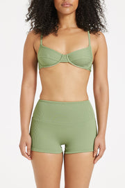 Signature Balconette Bracup Top - Tallow Green