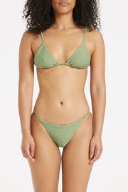 Signature Triangle Top - Tallow Green