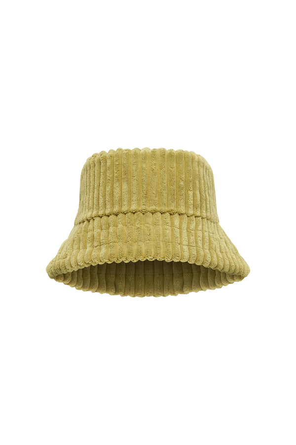 Cord Towelling Hat - Olive