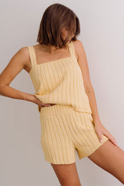 PRE-ORDER NOVEMBER | Summer Knit Camisole - Banana