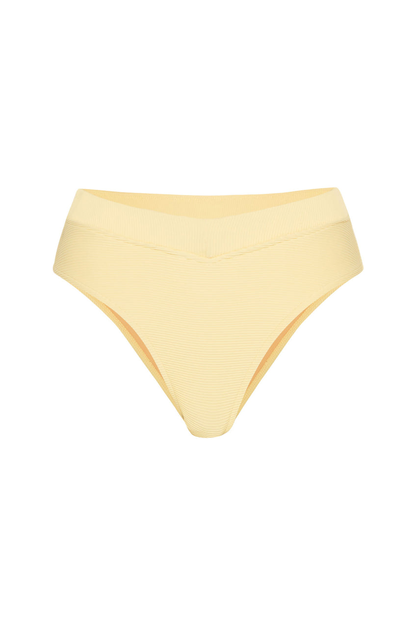 Signature V Waisted Brief - Lemon