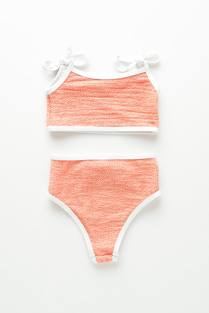 Mini Coral Waisted Bikini