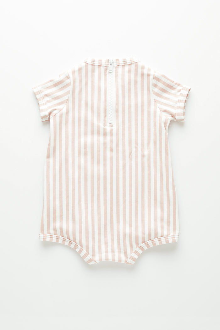 Mini Stripe Onesie - Lilac Stripe