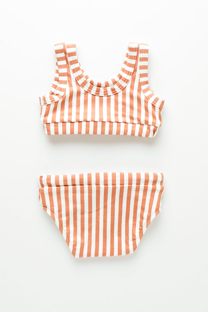Mini Stripe Bikini - Rust Stripe
