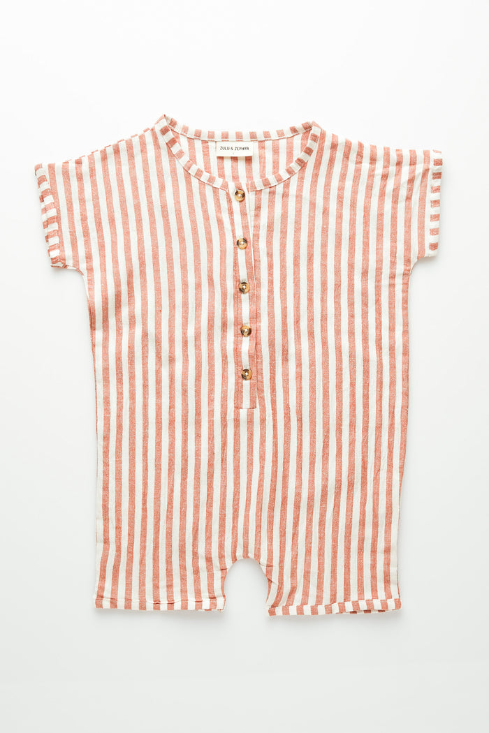 Mini Stripe Suit - Rust Stripe