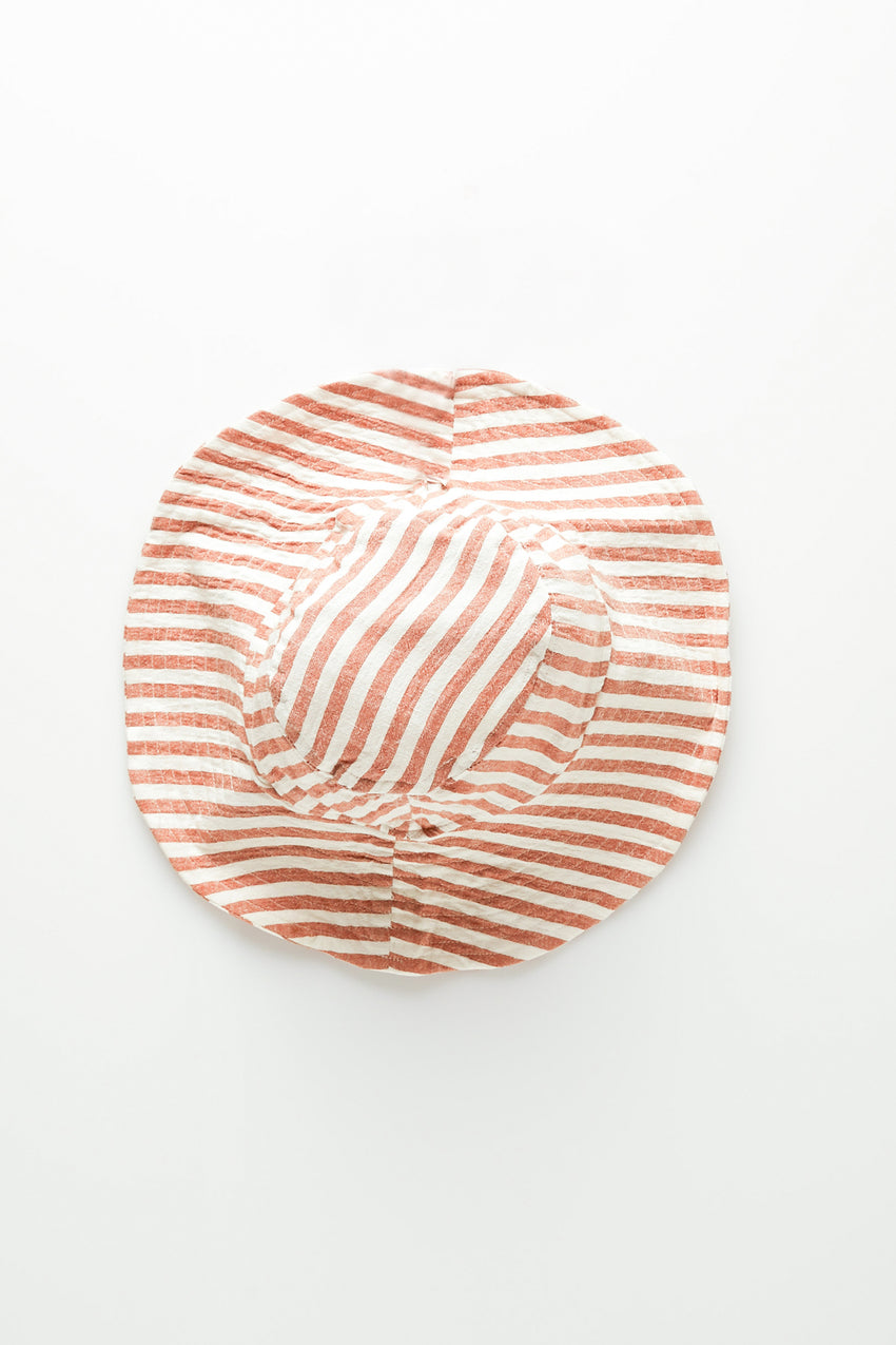 Mini Hat - Rust Stripe