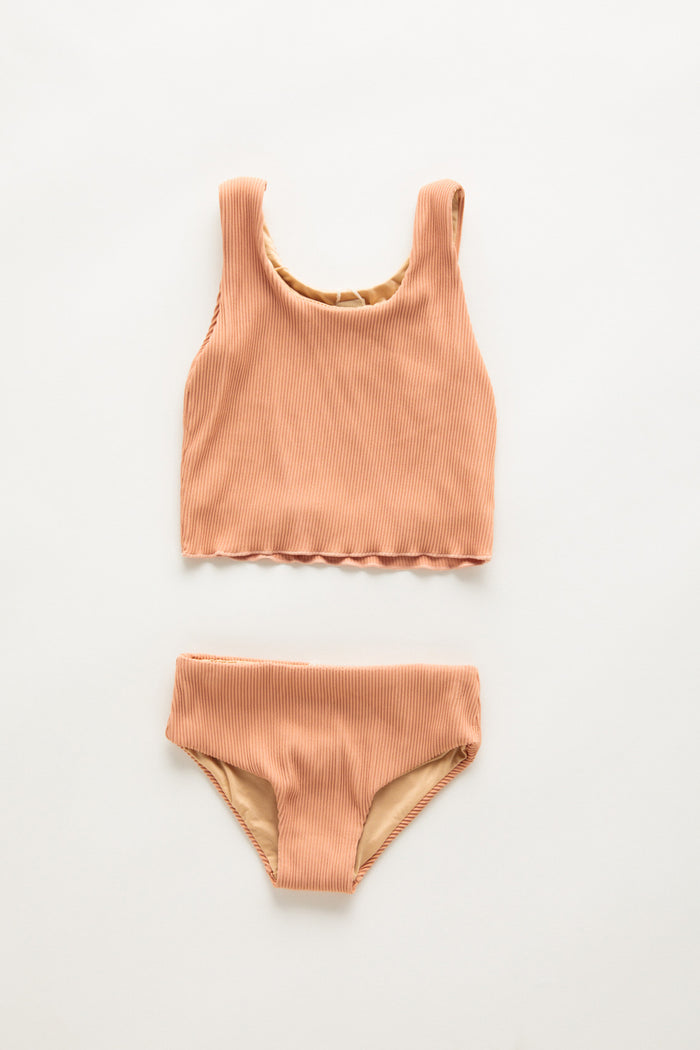 Mini Mermaid Edge Bikini - Terracotta