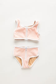 Mini Dolphin Hem Bikini - Blush