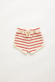 Mini Towel Short - Sunset Stripe