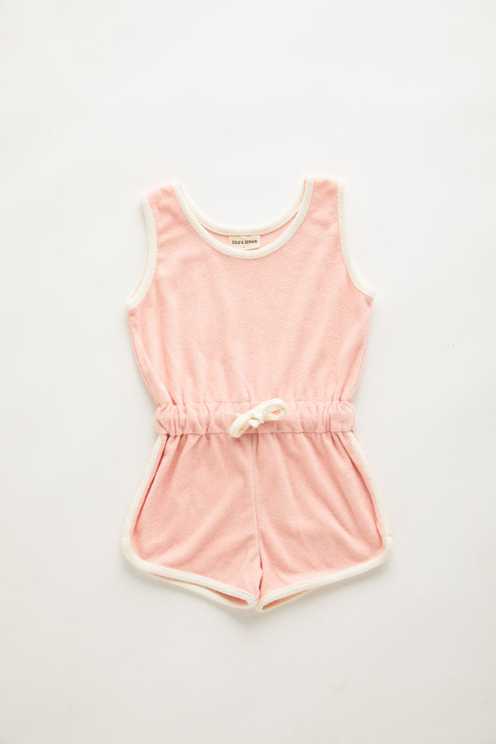 Mini Towel Playsuit - Blush