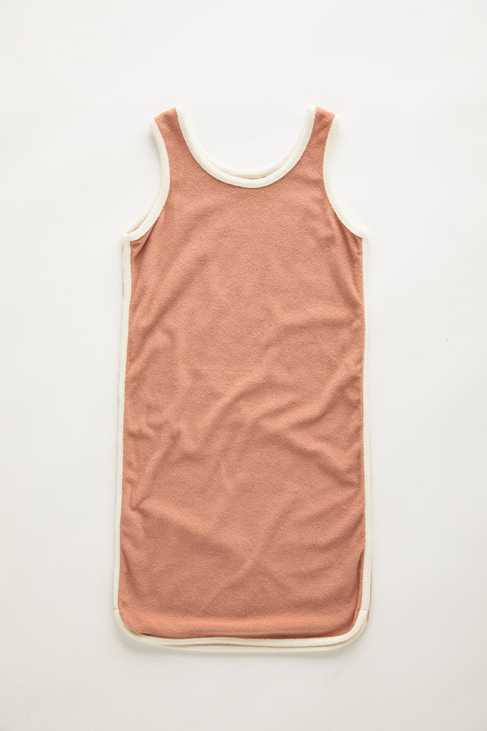 Mini Towel Dress - Terracotta