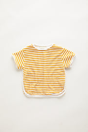 Mini Towel Tee - Golden Stripe