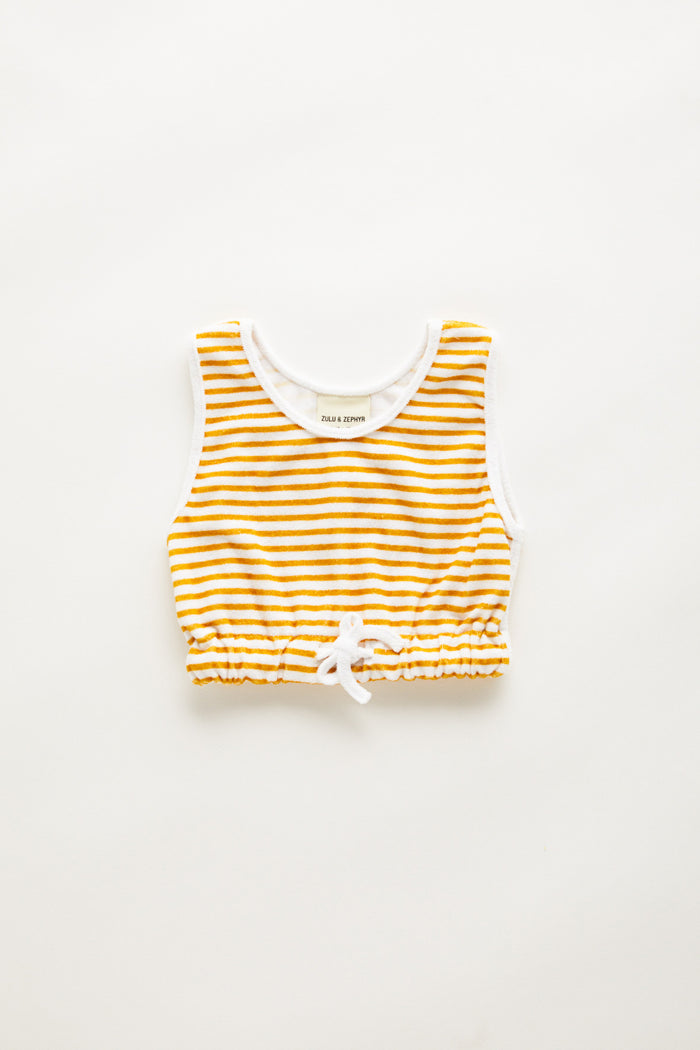 Mini Towel Tank - Golden Stripe