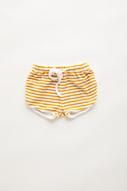 Mini Towel Short - Golden Stripe