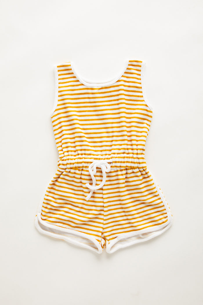 Mini Towel Playsuit - Golden Stripe