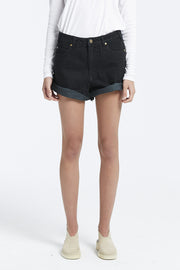 Zed Cuffed Boyfriend Short - Black
