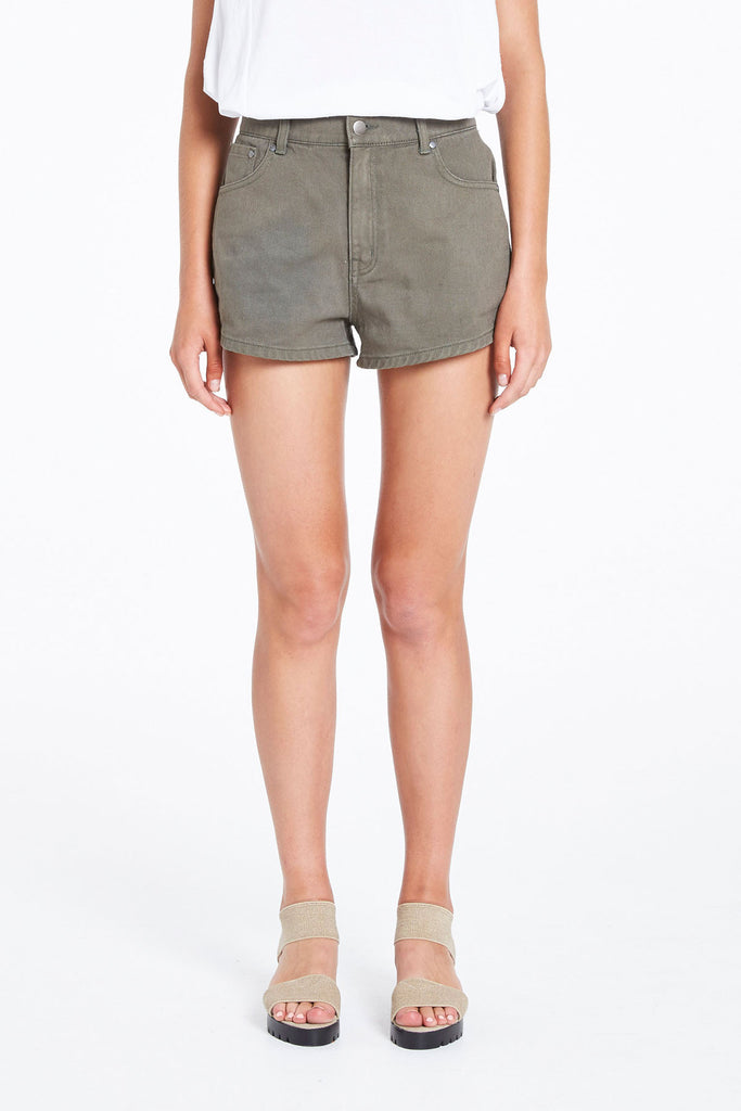 Zed Khaki Denim Short
