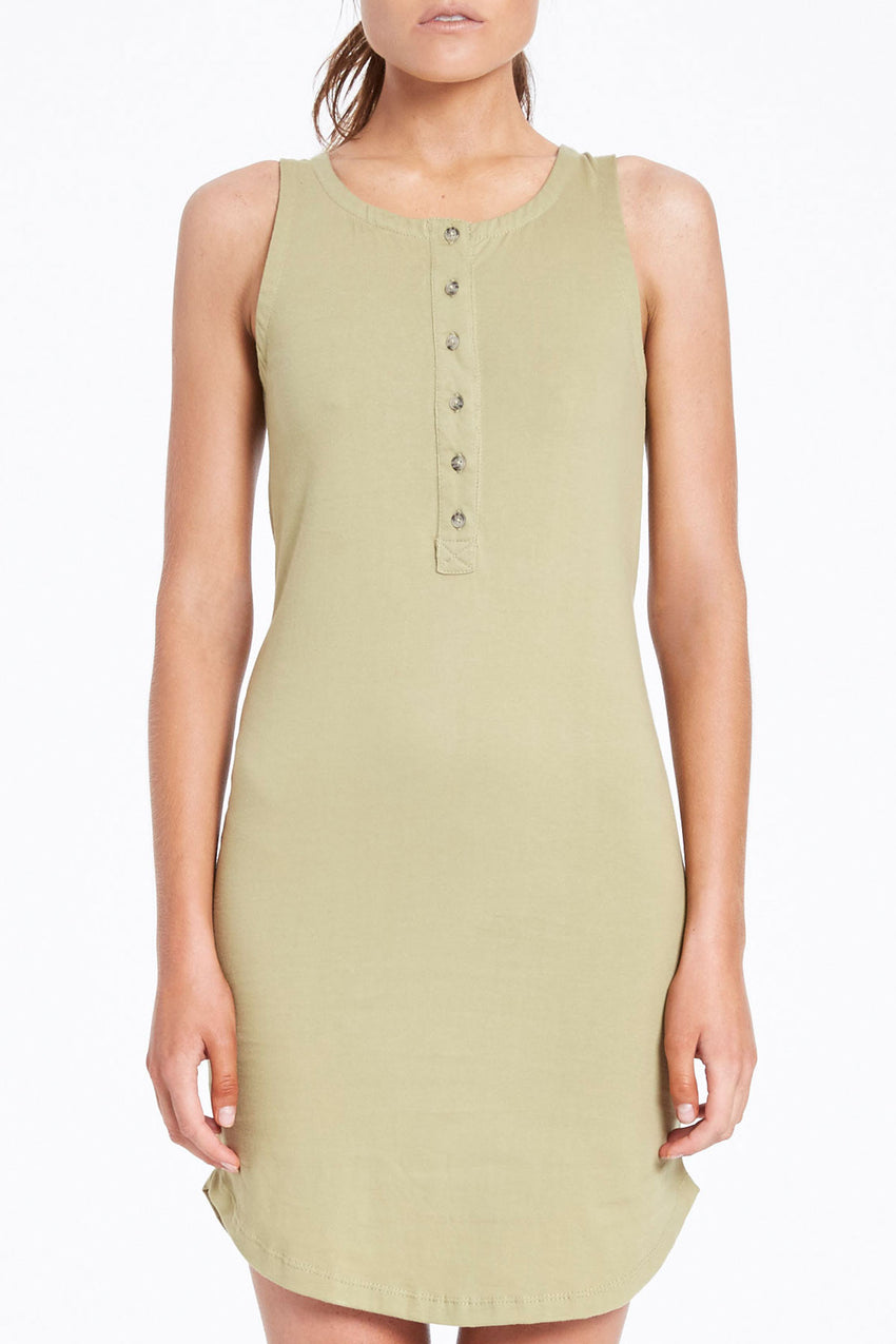 Dew Slip Dress - Khaki