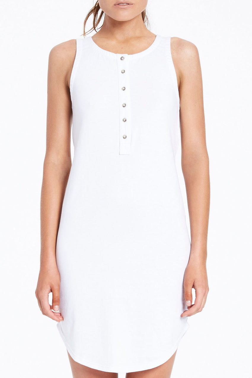 Dew Slip Dress - White