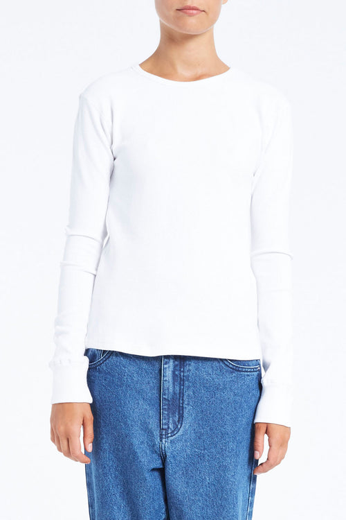 Dig It Long Sleeve Top - White