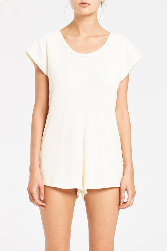 Dusty Towel Playsuit - Cream