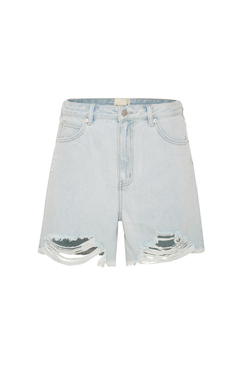 The Boyfriend Short - Washed Blue