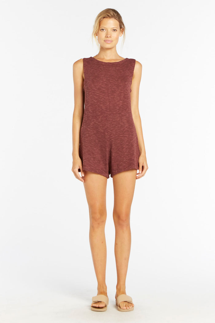 Holiday Knit Playsuit - Burgundy