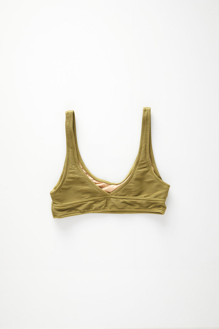 Signature Waistband Bralette Top - Olive