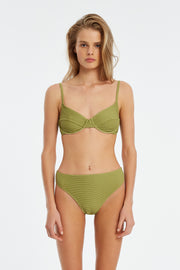 Signature Balconette Bracup Top - Olive