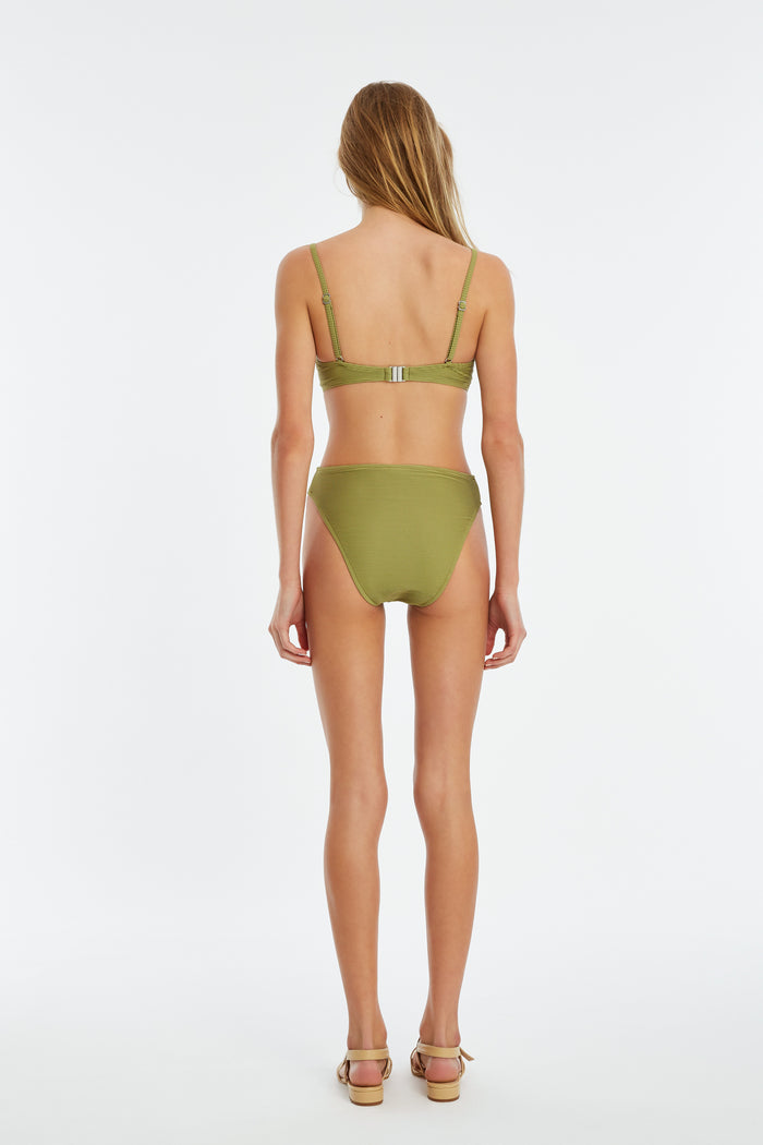 Signature Clean High Waisted Brief - Olive
