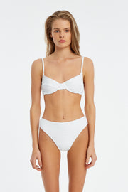 Signature Clean High Waisted Brief - White