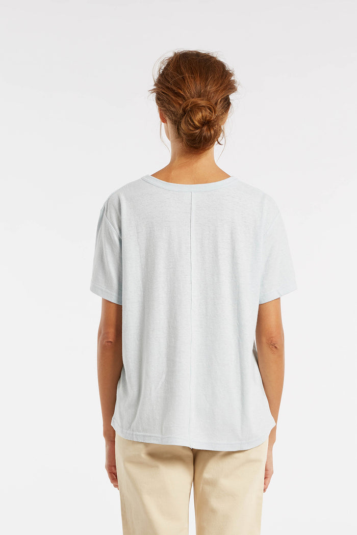 Signature Boyfriend T Shirt - Powder Blue