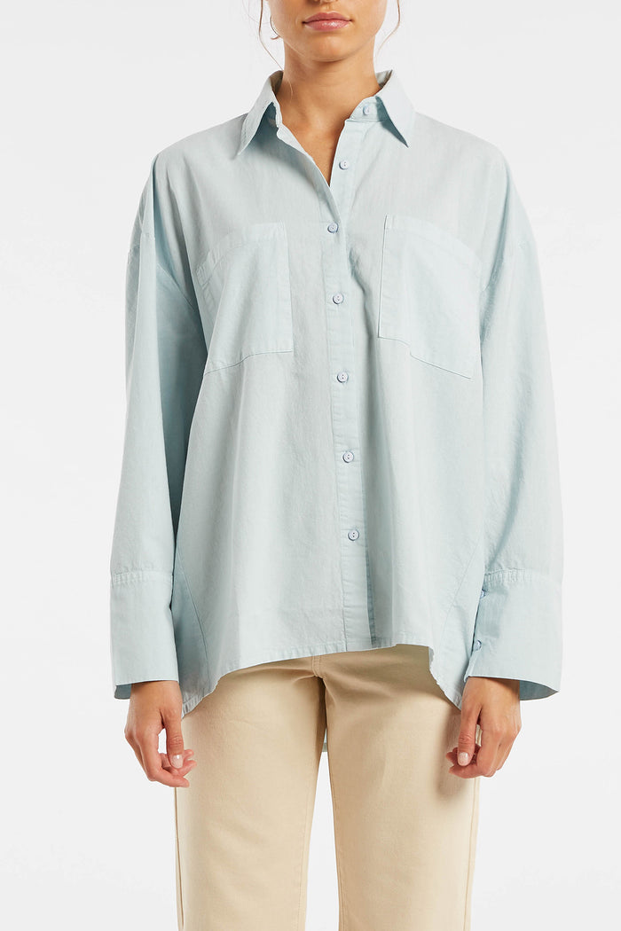 Signature Boyfriend Shirt - Powder Blue