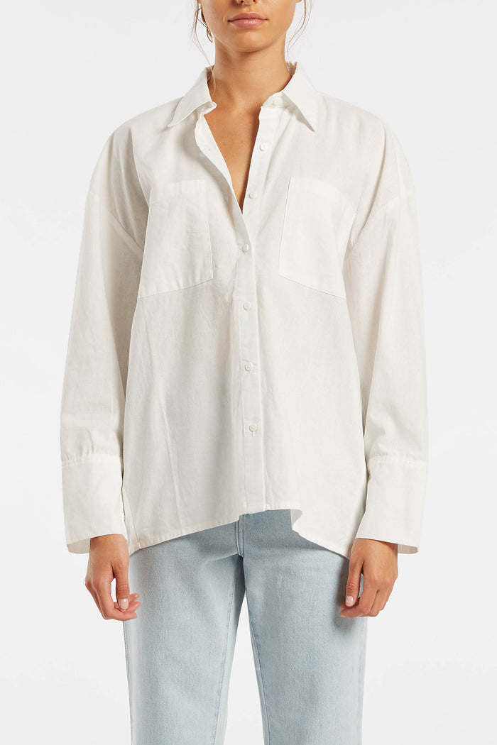 Signature Boyfriend Shirt - White