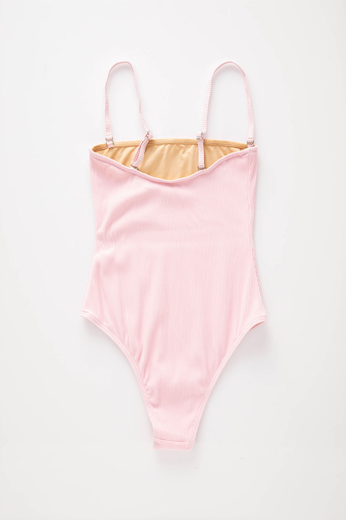 Signature Strapless Onepiece - Pink