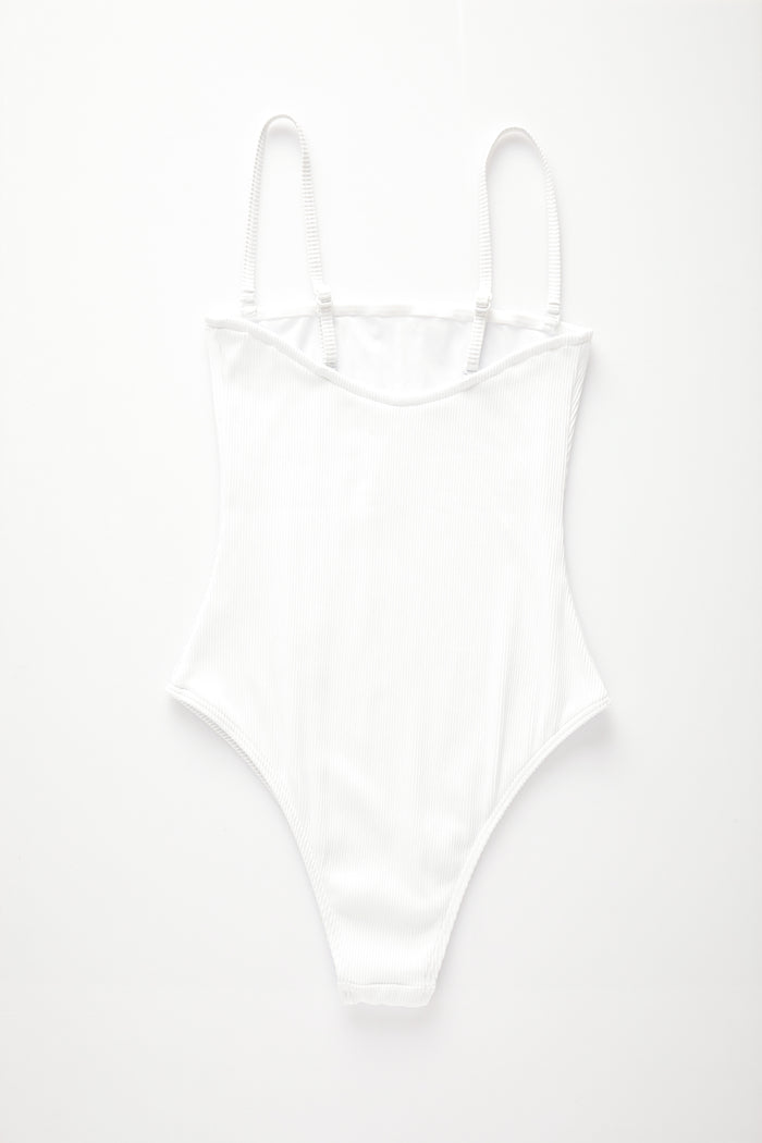 Signature Strapless Onepiece - White