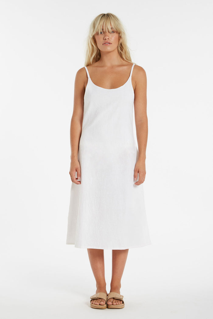 Mist Slip Dress - Warm White