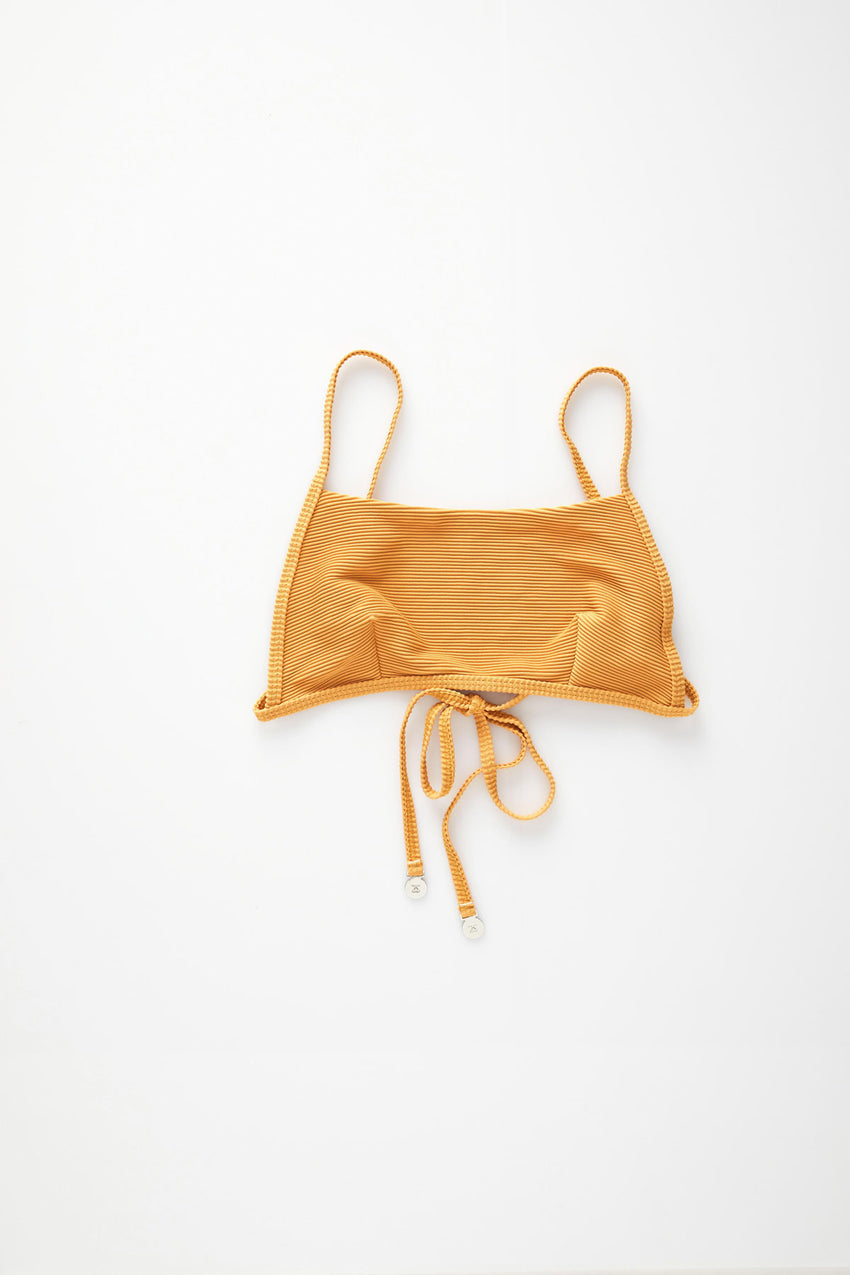 Signature Simple Bralette Top - Marigold