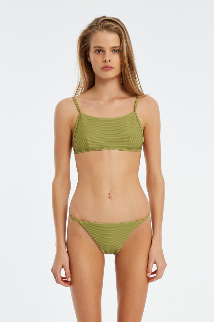 Signature Simple Bralette Top - Olive