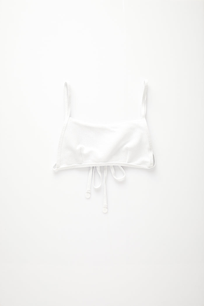 Signature Simple Bralette Top - White