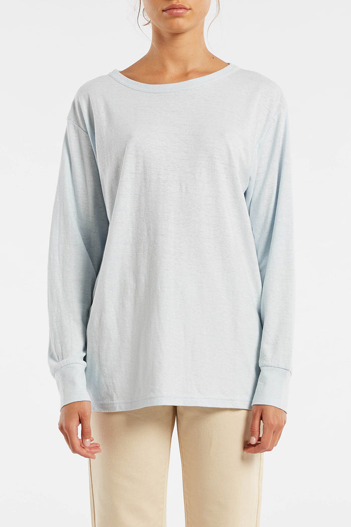 Signature Long Sleeve T Shirt - Powder Blue